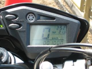 セロー250の走行距離が1000km達成した時の1枚です